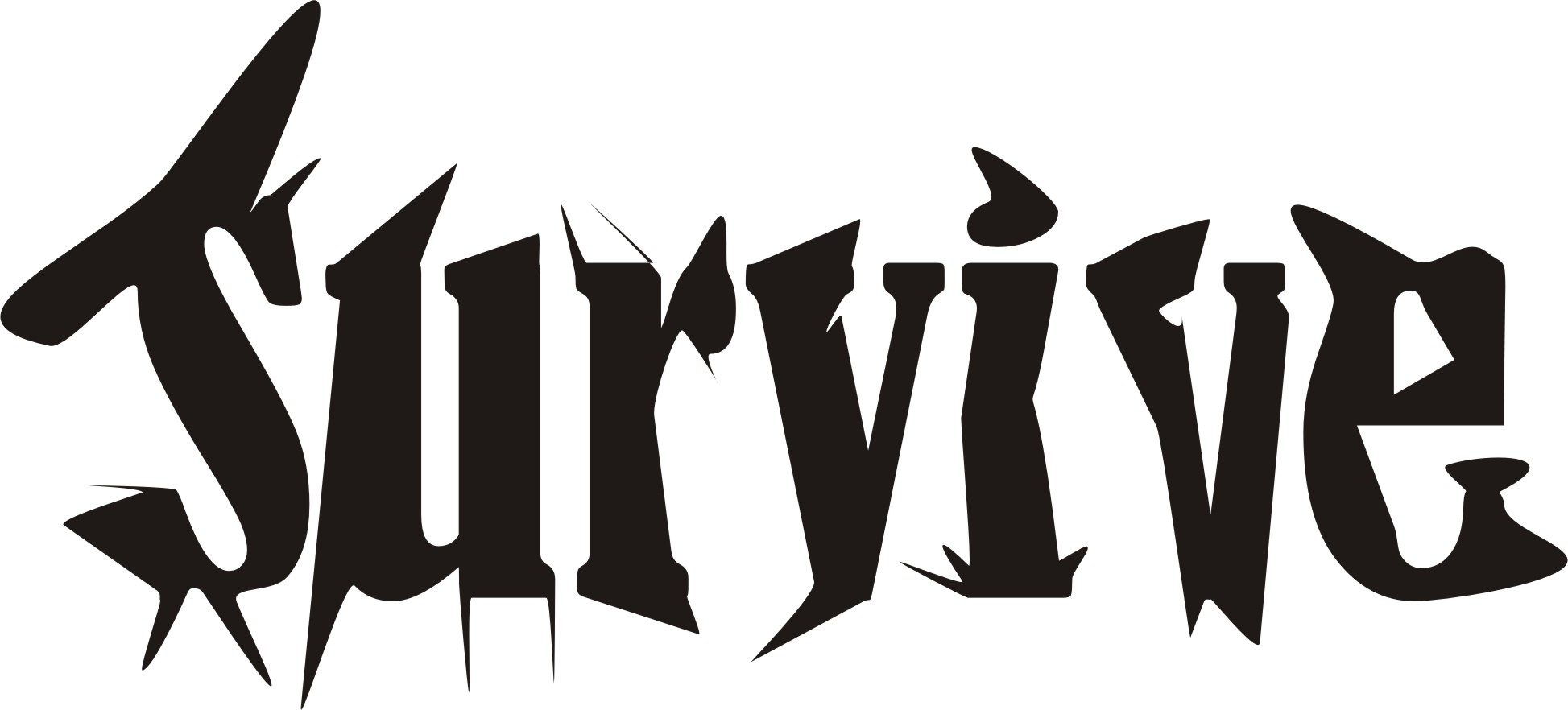 Survival word drum